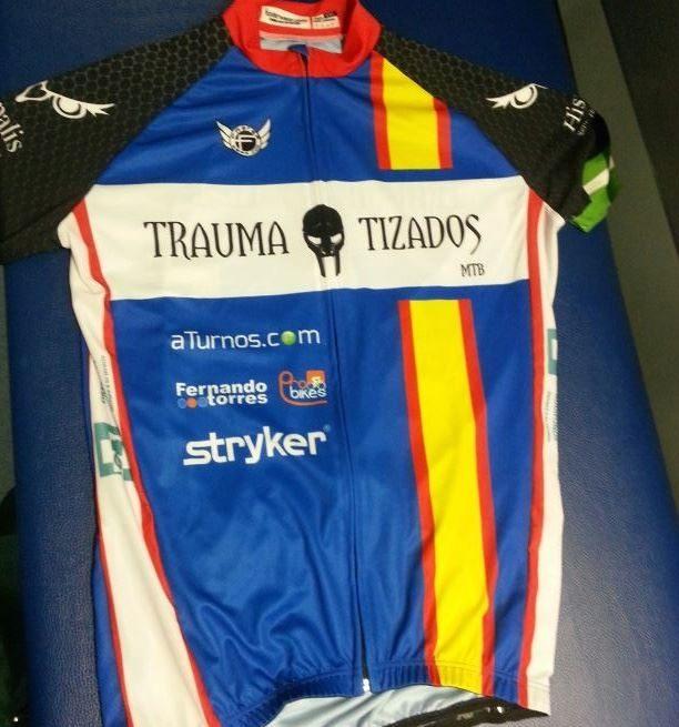 Equipación del Equipo de Ciclistas Traumatizados de Sevilla